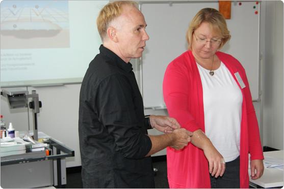 Regina Rinker und Simone Dinger-Merkle. Foto: Christel Hülter-Hassler